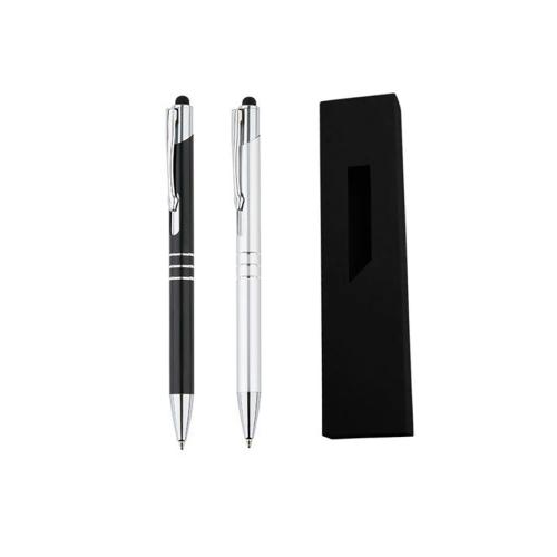 Гравирана химикалка със стилус +  картонена кутия