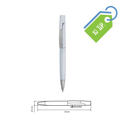Пластмасови сиви химикалки с гравиране - 10 бр.