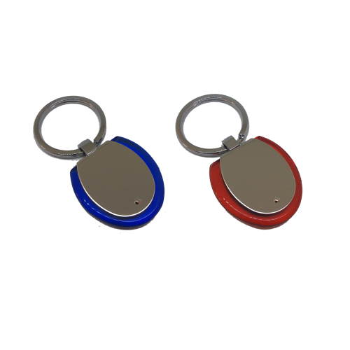 Гравиран ключодържател в червено или синьо