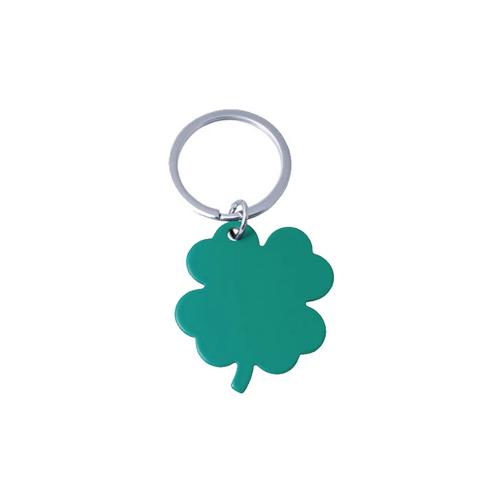 Гравиран ключодържател Детелинa в зелено