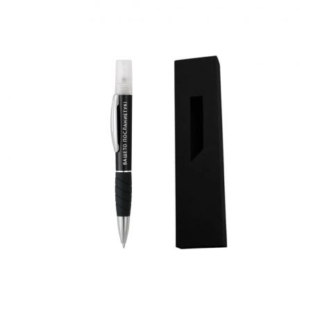 Гравиран черен метален химикал-спрей за дезинфекция + картонена кутия