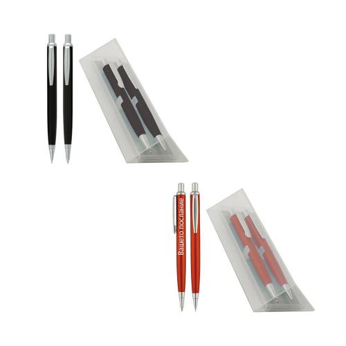 Гравиран Комплект химикал и автоматичен молив в кутия